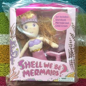 NEW Mermaid Doll and Book Gift Set